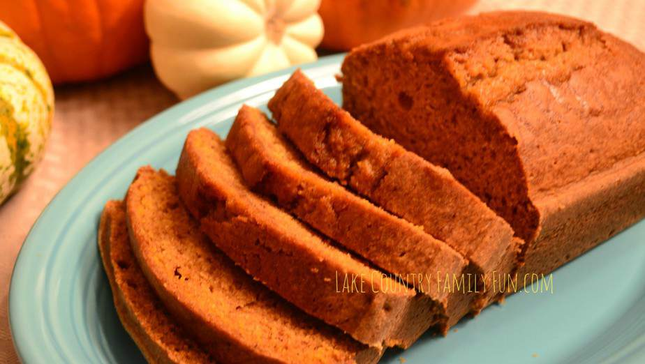 Delicious Divine Pumpkin Bread by LakeCountryFamilyFun.com