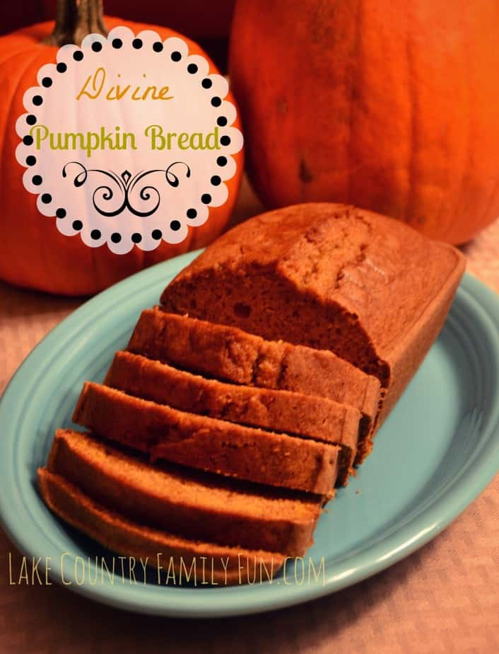 Divine Pumpkin Bread by LakeCountryFamilyFun.com