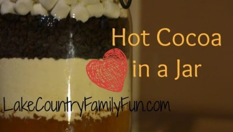 Hot cocoa in a jar Lake Country Family Fun