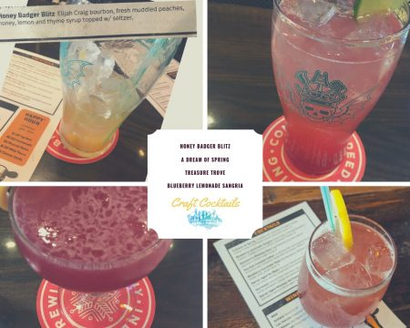 The Crafty Cow in Downtown Oconomowoc A Dining Review Blueberry Lemonade Sangria Honey Badger Blitz
