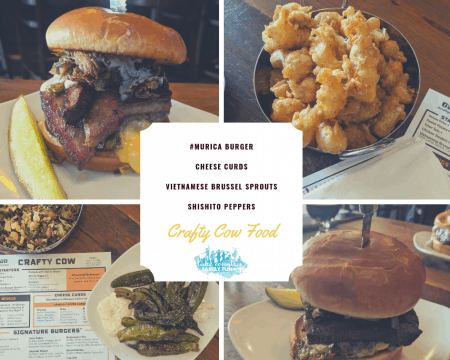 The Crafty Cow in Downtown Oconomowoc A Dining Review #Murica Burger Cheese Curds Vietnamese Brussel Sprouts SHISHITO PEPPERS