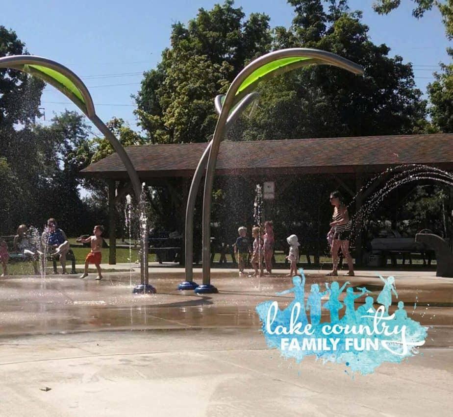 Nixon Park Splash Pad Village of Hartland Best Local Parks Lake Country Family Fun