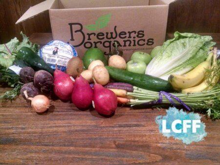 Brewers Organics Lake Country Family Fun Produce Box Fresh Vegetables Fruit