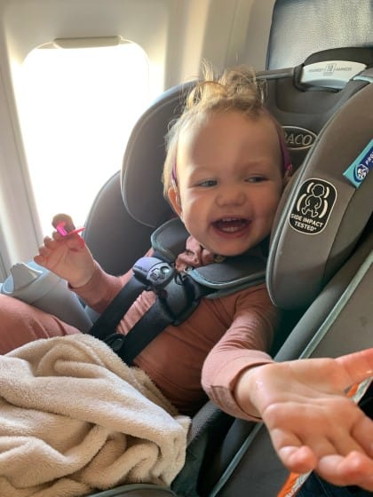 Traveling (Flying) with a Toddler - What I Packed & Learned Plane