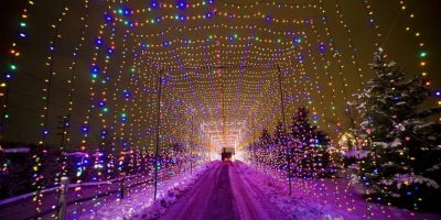 Country Christmas holiday lights