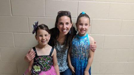 Erin and Girls at Dance Recital