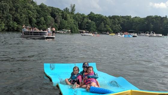 Erin and Girls on Okauchee Summer 2019 When the last baby starts school Weekend guide
