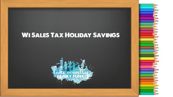 Wisconsin Sales Tax Holiday