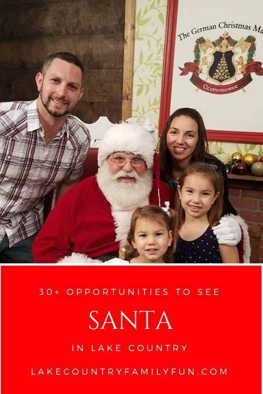 Santa Lake Country Family Fun Waukesha County