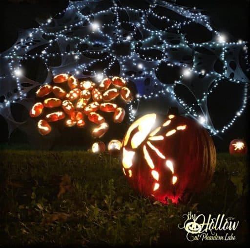 Halloween spider at the Hollow at Phantom Lake