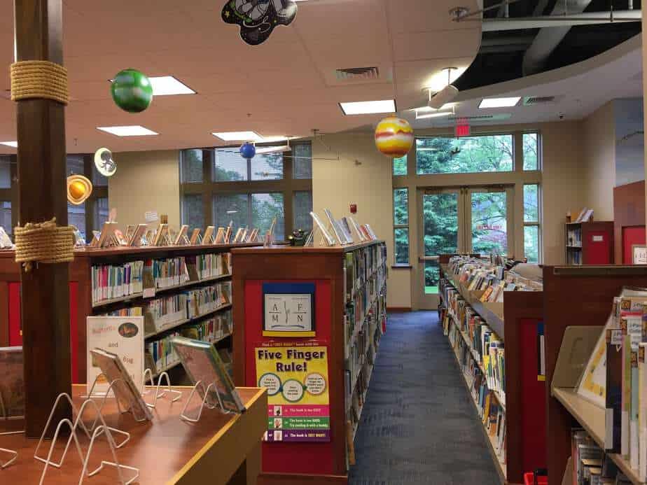 Pewaukee Public Library kid stack