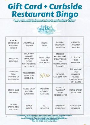 Restaurant Bingo 2020