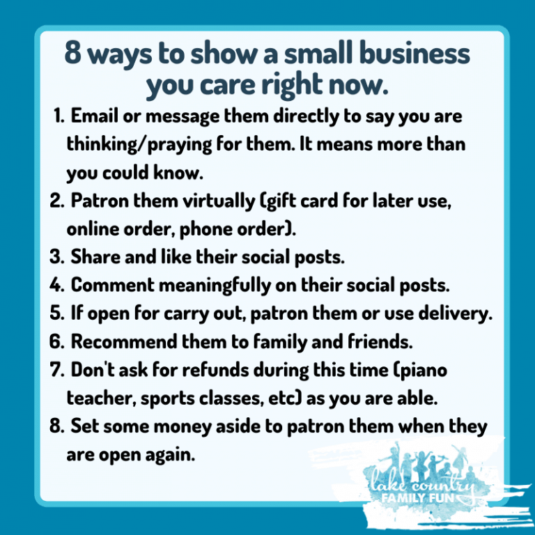 8 ways to help small business COVID