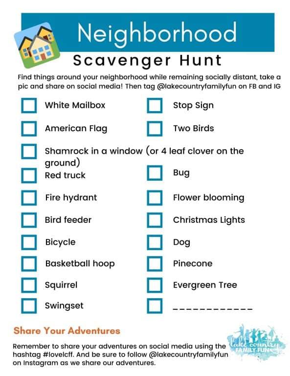 Social Distance Scavenger Hunt