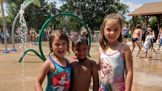 Nixon Park Splash Pad Hartland Wisconsin Lake Country Family Fun
