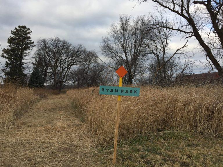 Waukesha County Parks Ryan Park sign