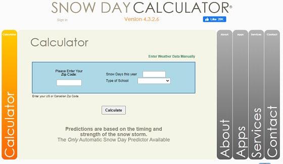 snowday calculator
