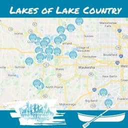 Map of the Lakes of Lake Country