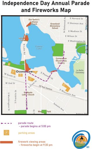 Oconomowoc 4th of July Parade Map