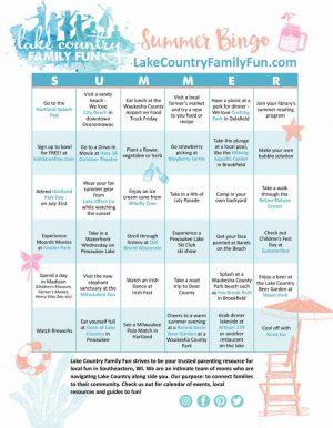 Summer Fun Bingo Card 2019